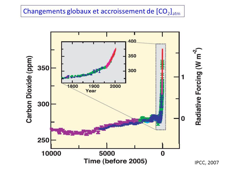 Changements globaux et accroissement de [CO2]atm